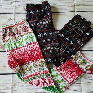 NoBo Winter Nordic Reindeer Print Xmas Leggings